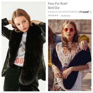 🆕NWT Urban Outfitters Faux Fur Scarf